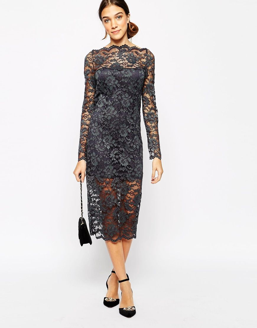 Image 4 of Ganni Lace Bodycon Dress   top sewing inspiration   Pinterest
