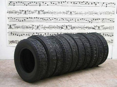 Betsabee Romero carved tires Now this is creative recycling! inspirationgreen.com
