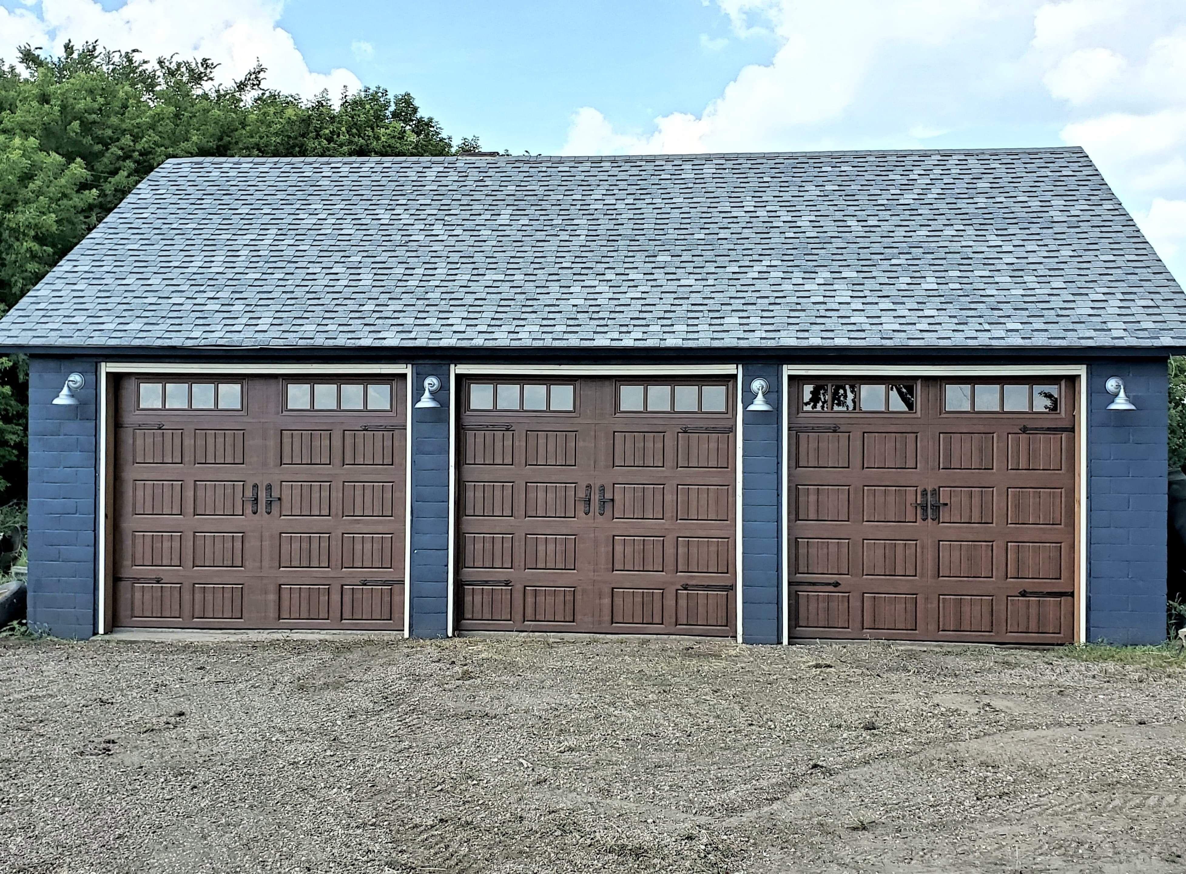 Amarr Hillcrest 3000 Garage Door In Walnut Garage Door Makeover Garage Doors Doors