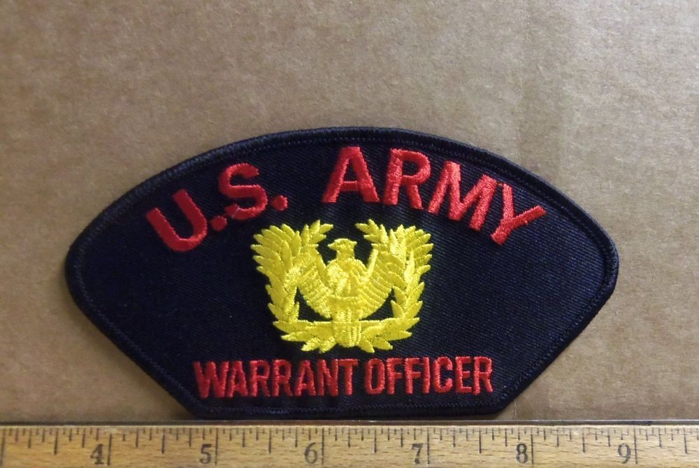 Details about US Army Warrant Officer Embroidered Patch