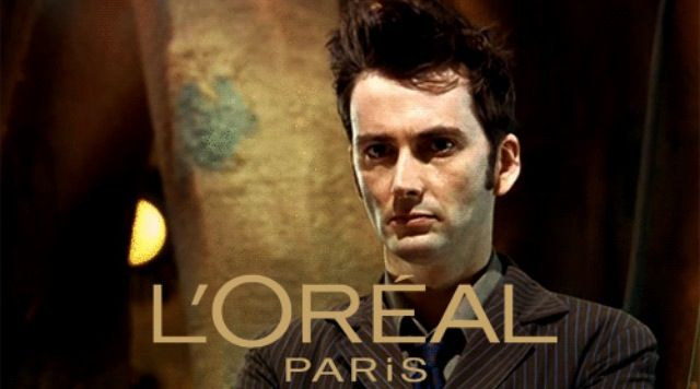 David could seriously do a commercial for L'oreal with his Doctor hair!!!