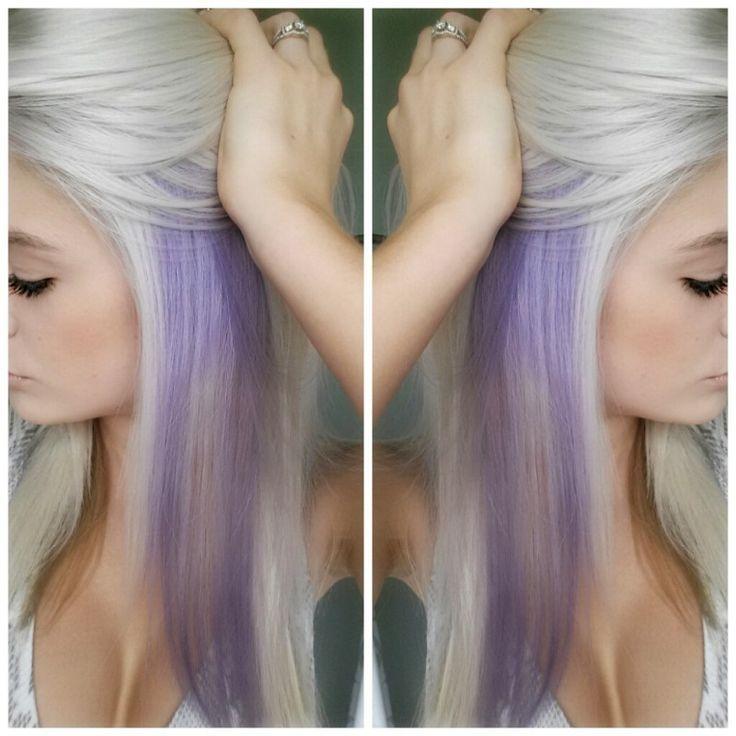 Peekaboo highlights hair and skin pinterest peekaboo platinum white blonde and lilac hair pmusecretfo Images