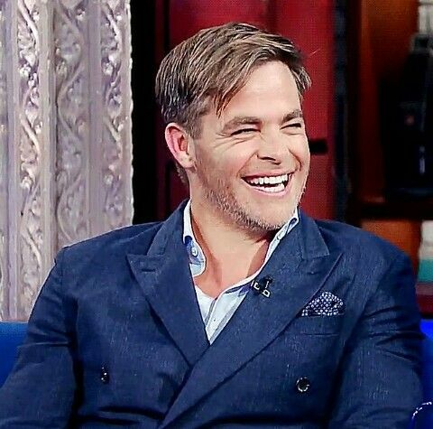 Happy Chris Pine
