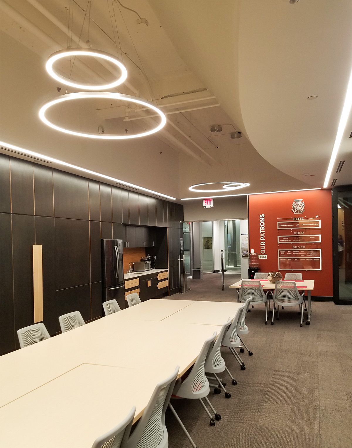 Conference Room Lighting Design: Zynn Rings By SPI Lighting. Courtesy Of AIA Atlanta