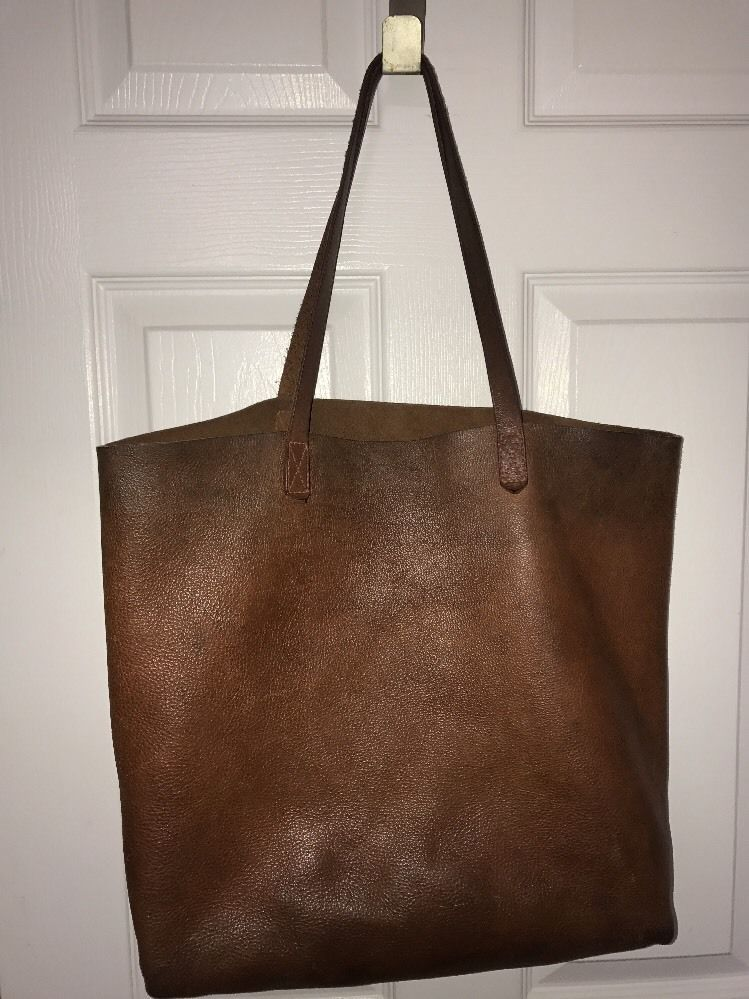 Madewell Women S Brown Leather Tote Extra Large Xl Ebay Skull Clutch