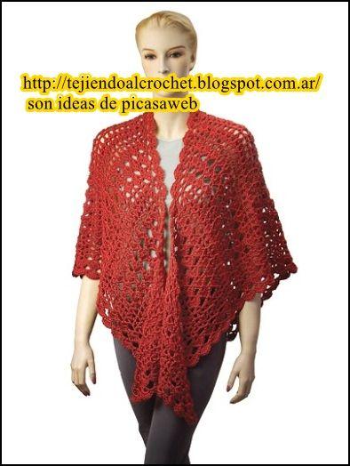 crochet fabric , CROCHET - GANCHILLO - PATRONES - GRAFICOS: CHAL Y ...