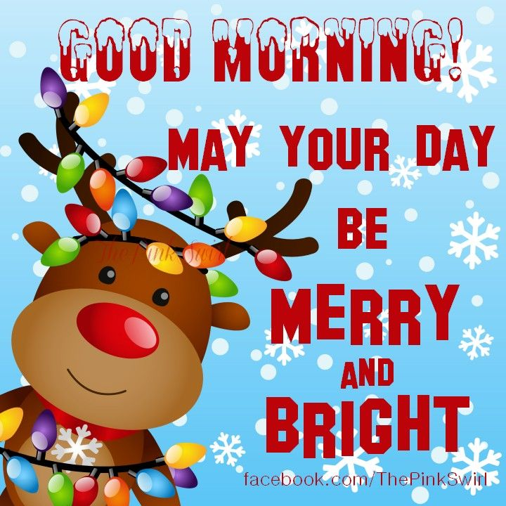 Good Morning! May Your Day Be Merry And Bright
