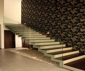 Casas modernas dise o interiores escalera pinterest for Diseno de escaleras interiores