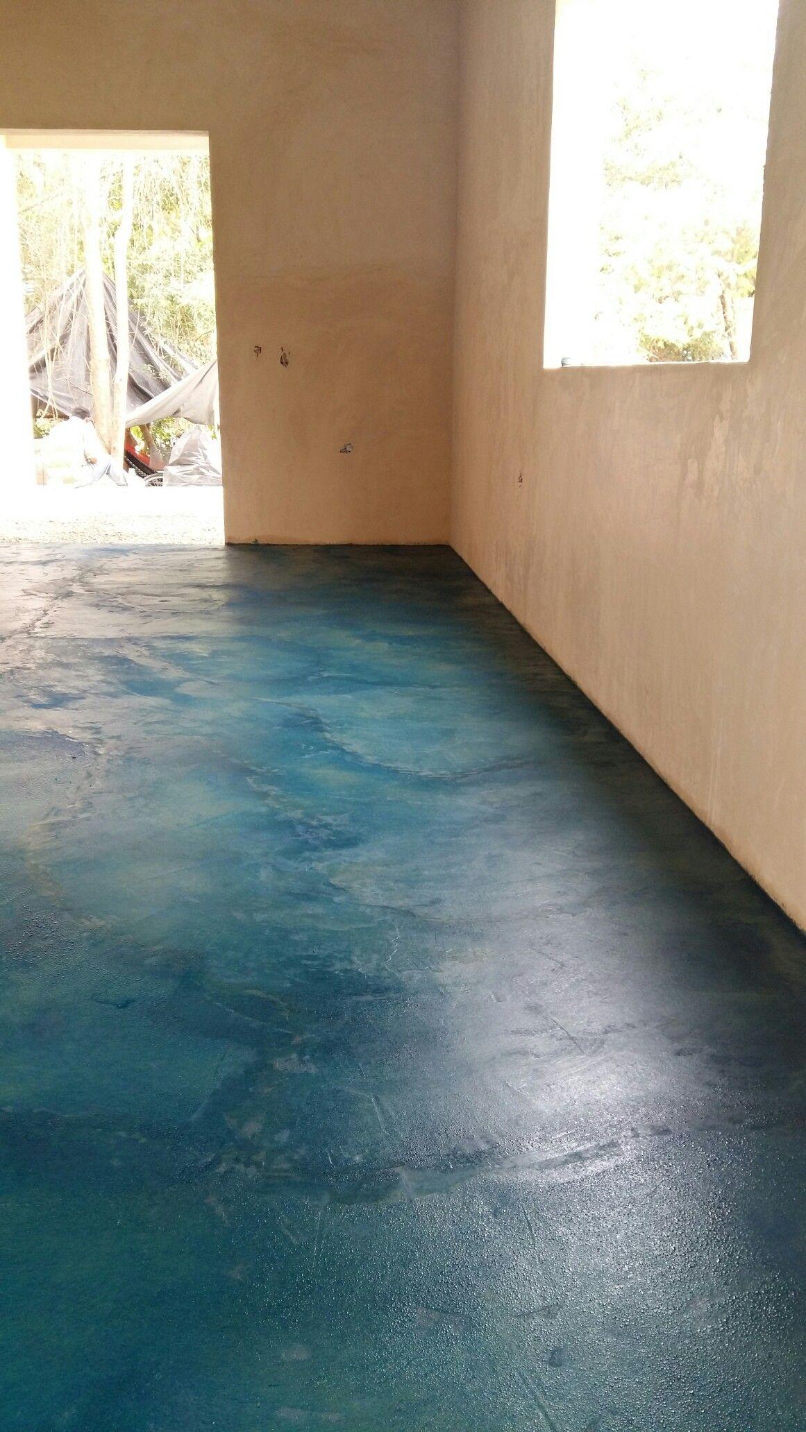 Como pulir un piso de concreto tocopero t concrete Piso pulido con color