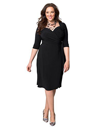 Kiyonna Womens Plus Size Sweetheart Knit Wrap Dress Http