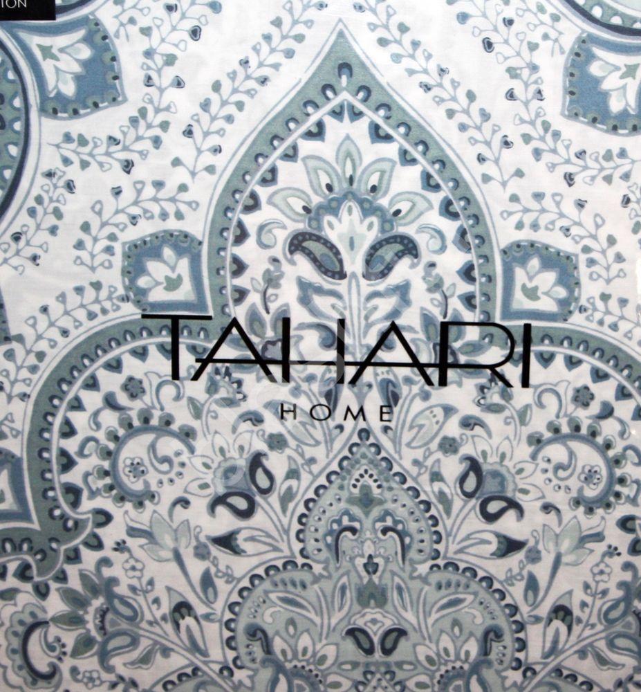 new tahari moroccan paisley soft blue gray white 3pc king duvet
