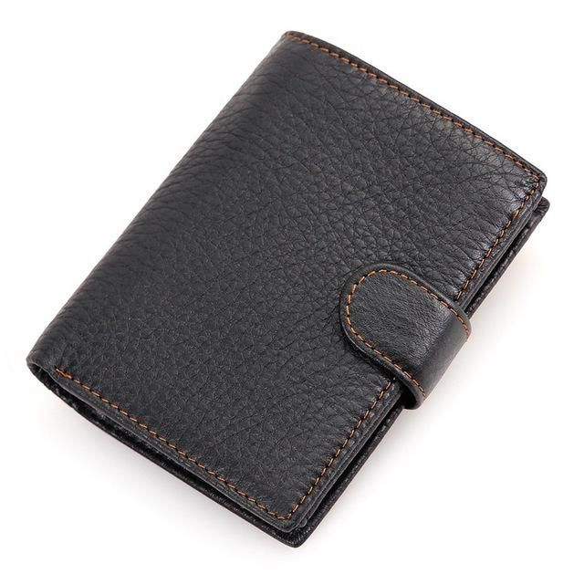 a5b2053afa24 Top Quality New Arrival Genuine Leather Wallet Short Men Wallets Luxury  Dollar Price Vintage Male Card Holder Coin Purse - The Bargain Paradise