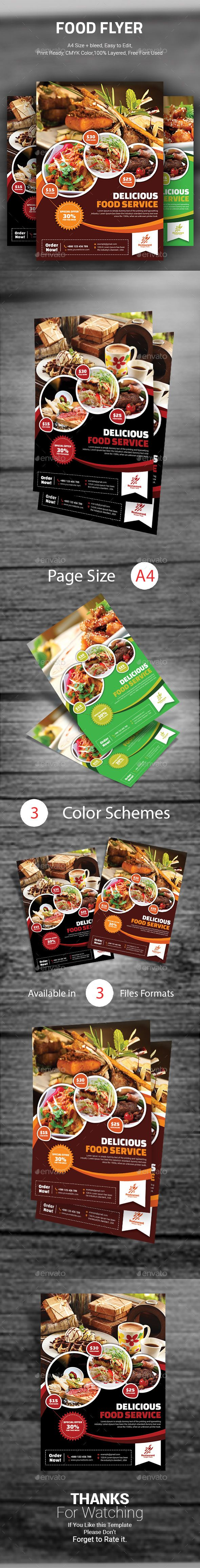 food flyer restaurant flyers this food flyer template can be