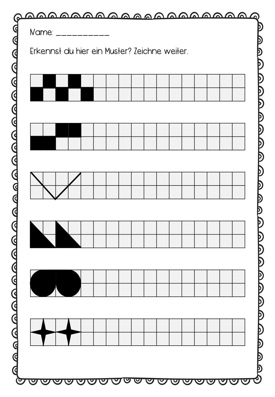 Musterubung Arbeitsblatt Bilder Muster Zum Fortsetzen 4