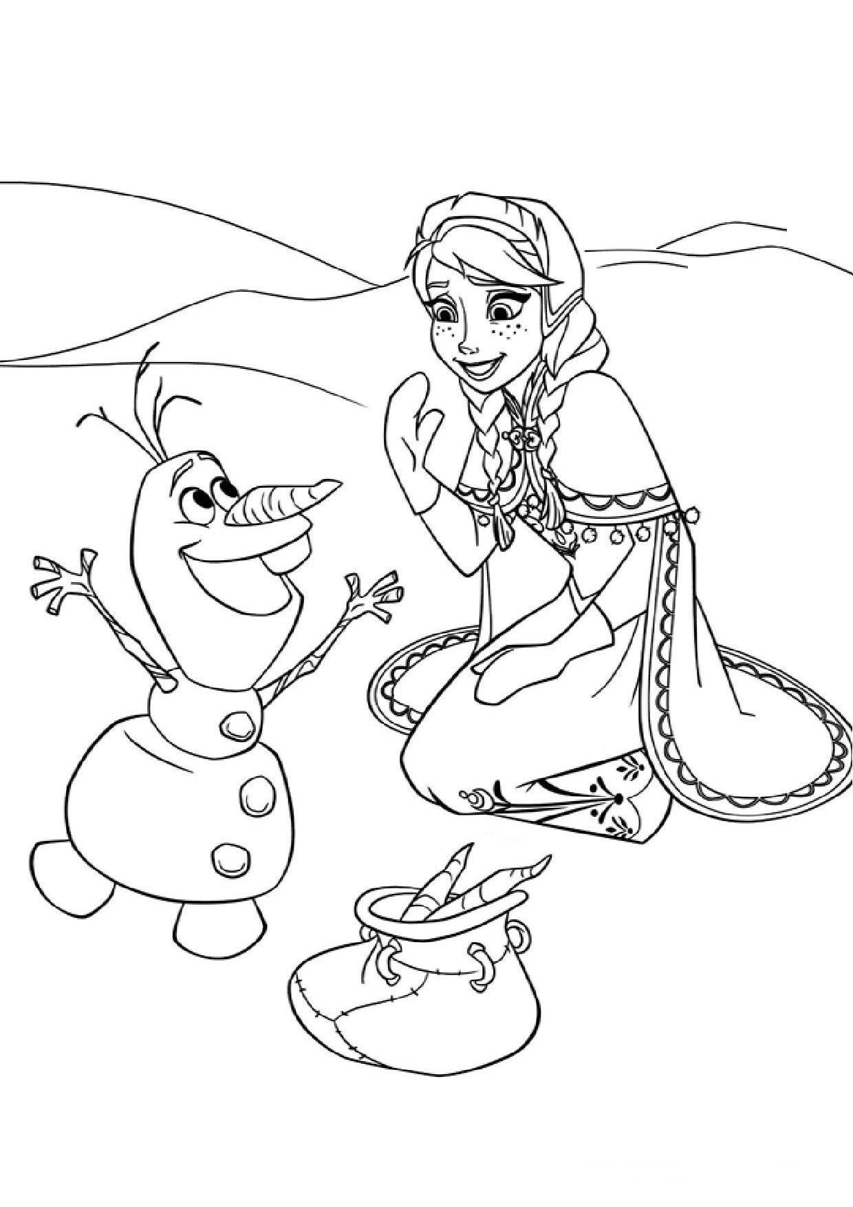 Coloriage reine des neiges   color   Pinterest
