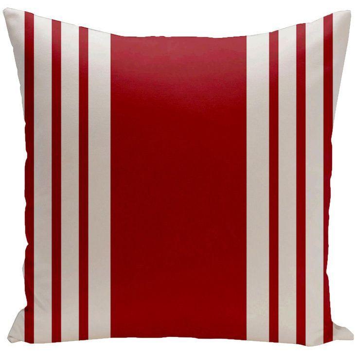 Decorative Outdoor Borde Stripe Print 20-inch Pillow