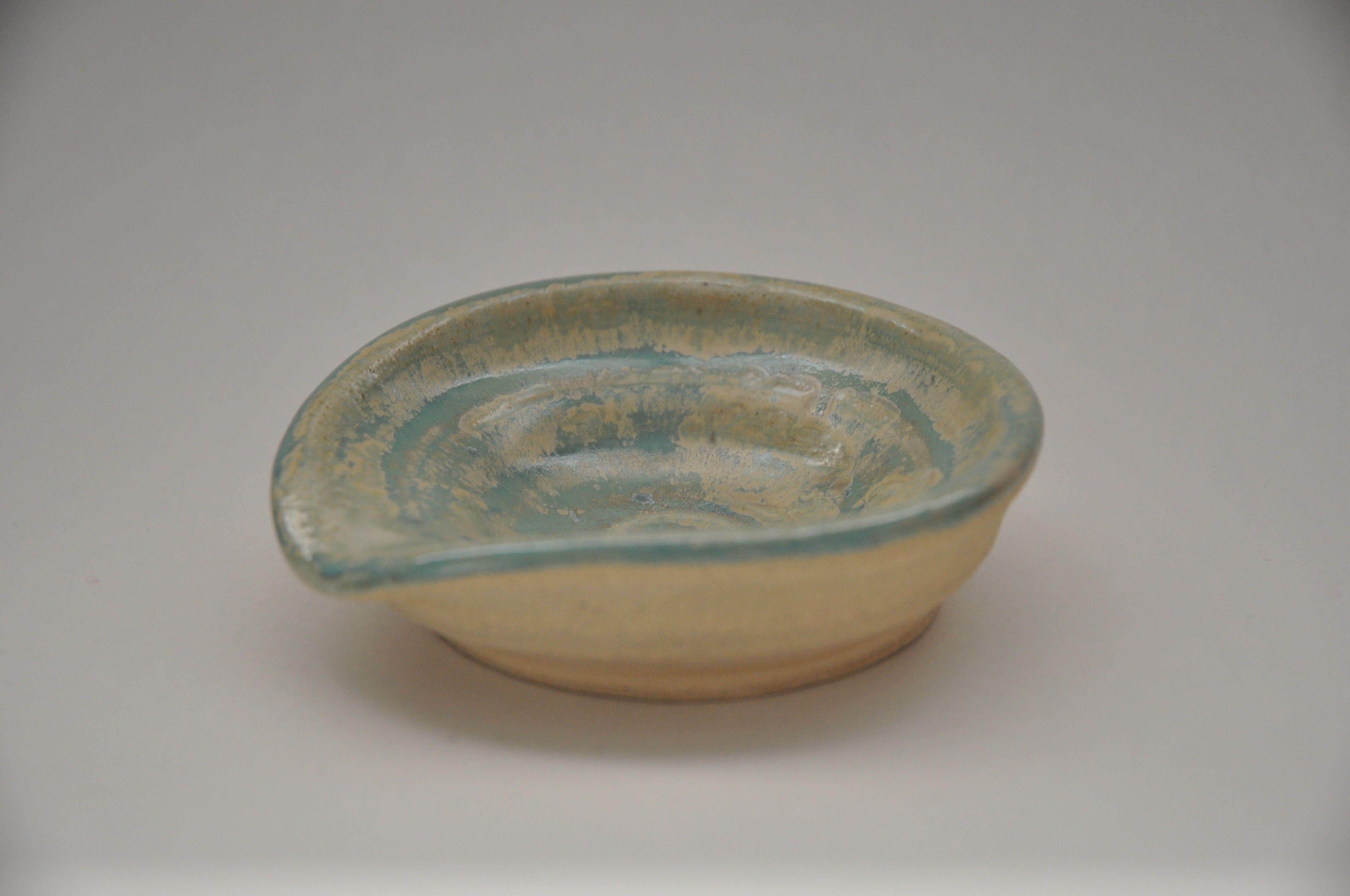 Elliptical PB Glazed Dish by Febbie Day of Doe&Day (FDV014)