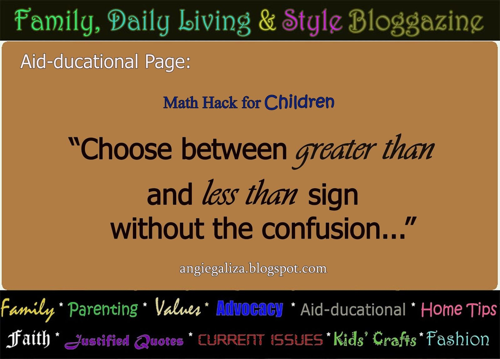Family Daily Living Style Hacking Greater Than And Less Than Signs Justified Quotes Living Styles Greater Than