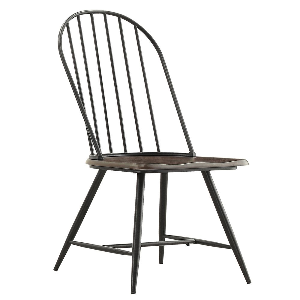 Dining Chairs Deals: Belita Mid-century Two-tone Modern Spindle Wood Dining