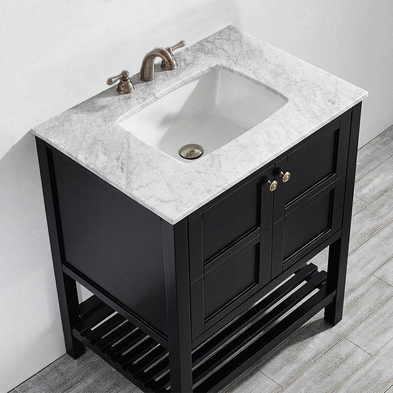 Caldwell 30 Single Bathroom Vanity Marble Vanity Tops Bathroom Vanity Single Bathroom Vanity