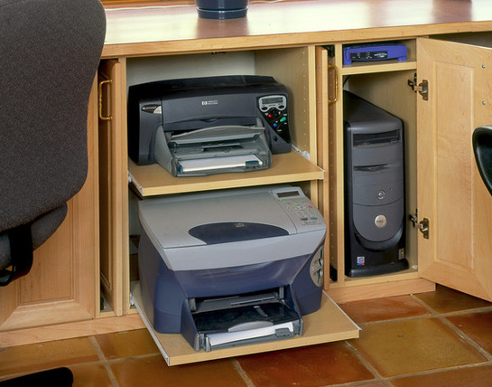 18++ Desk with hidden printer storage ideas