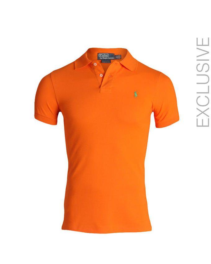 Resort Orange Classic Custom Fit Mesh Polo Mens Tops Ralph Lauren Polo Ralph Lauren