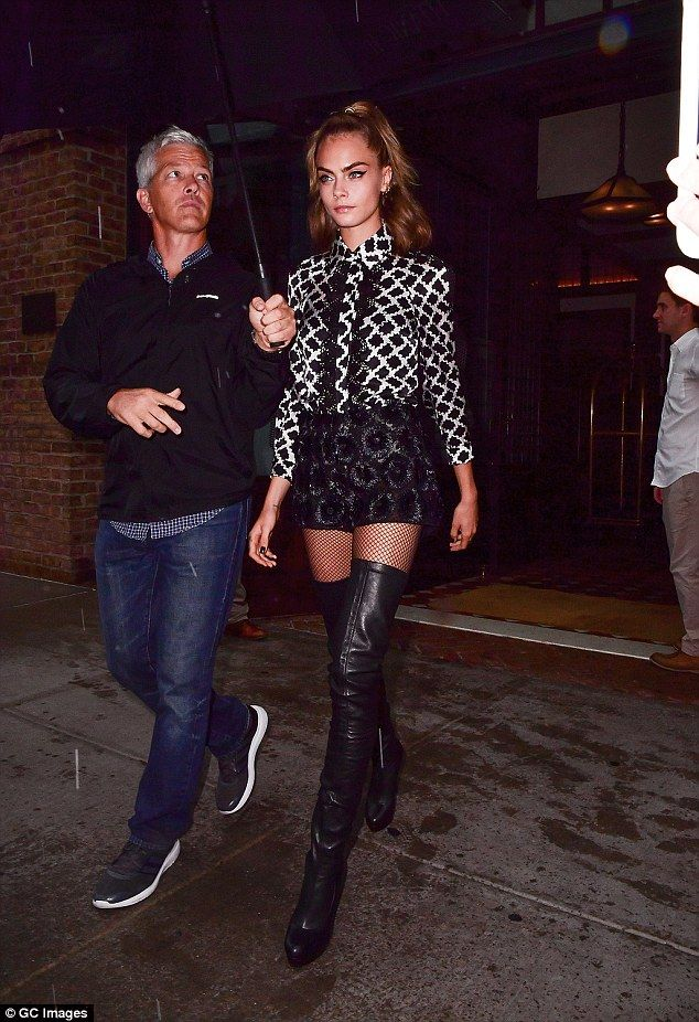 9ca5f1525936 Add some edge to your look like Cara in Emanuel Ungaro Click 'Visit' to buy  now #DailyMail