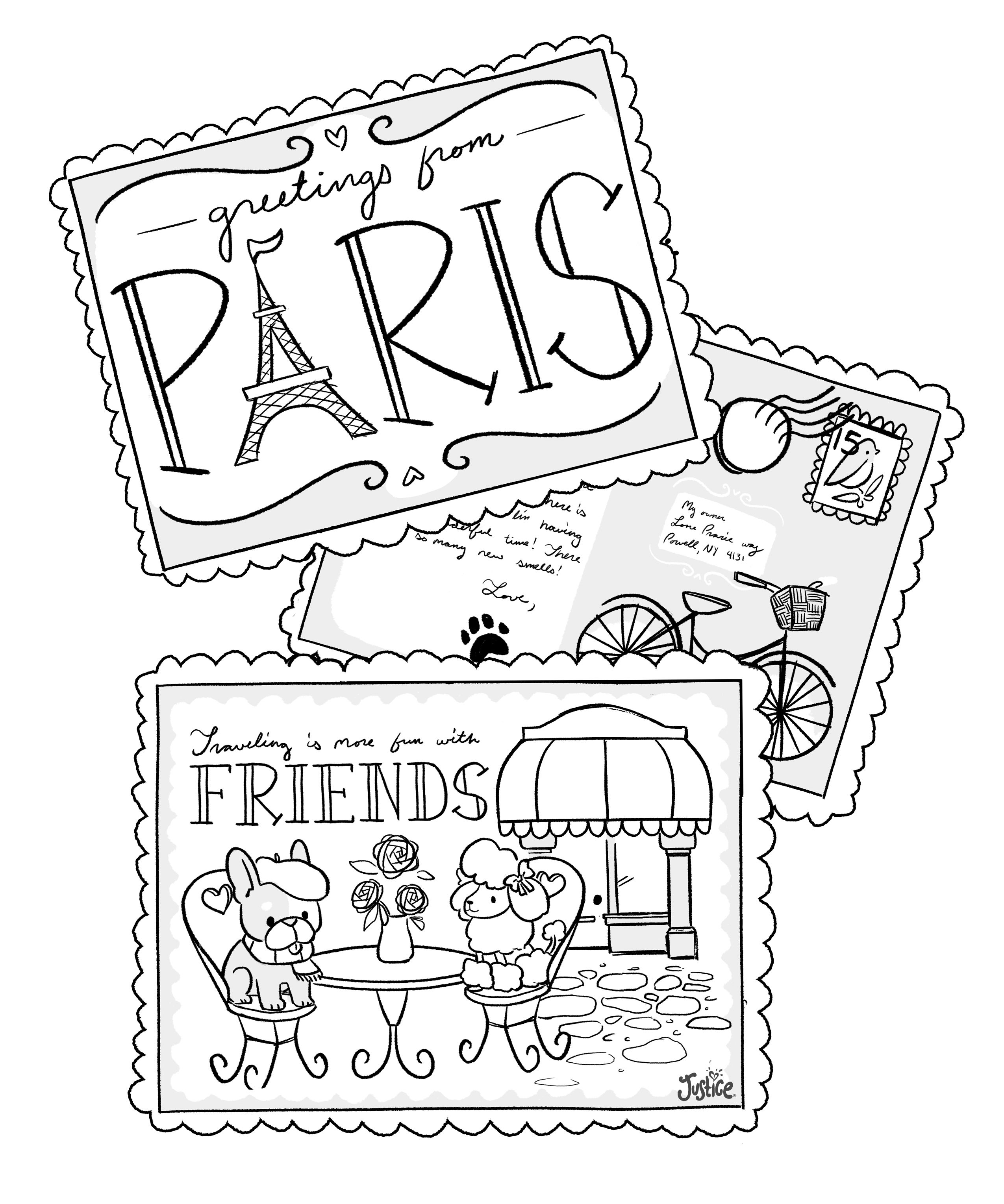 Color These Pretty Pictures To Pass The Time On Your Spring Break