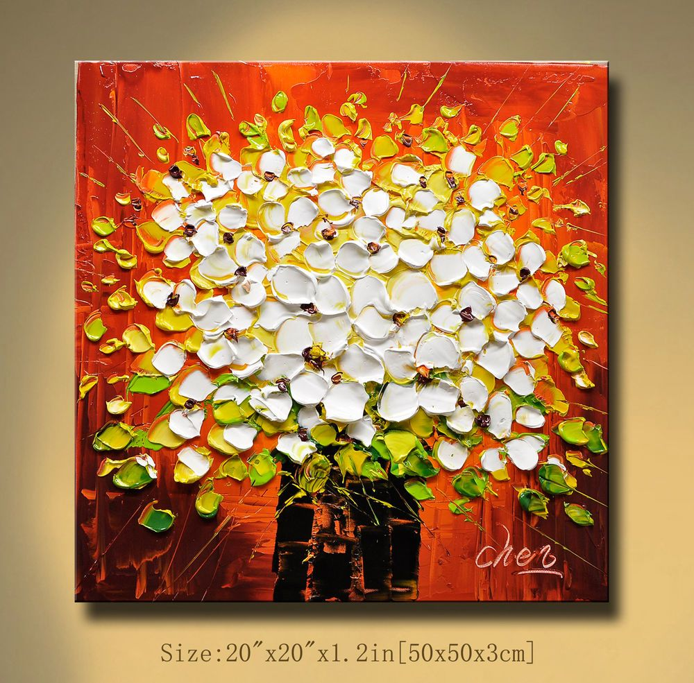 Modern Abstract 100% hand-painted Art Oil Painting Wall Decor canvas ...