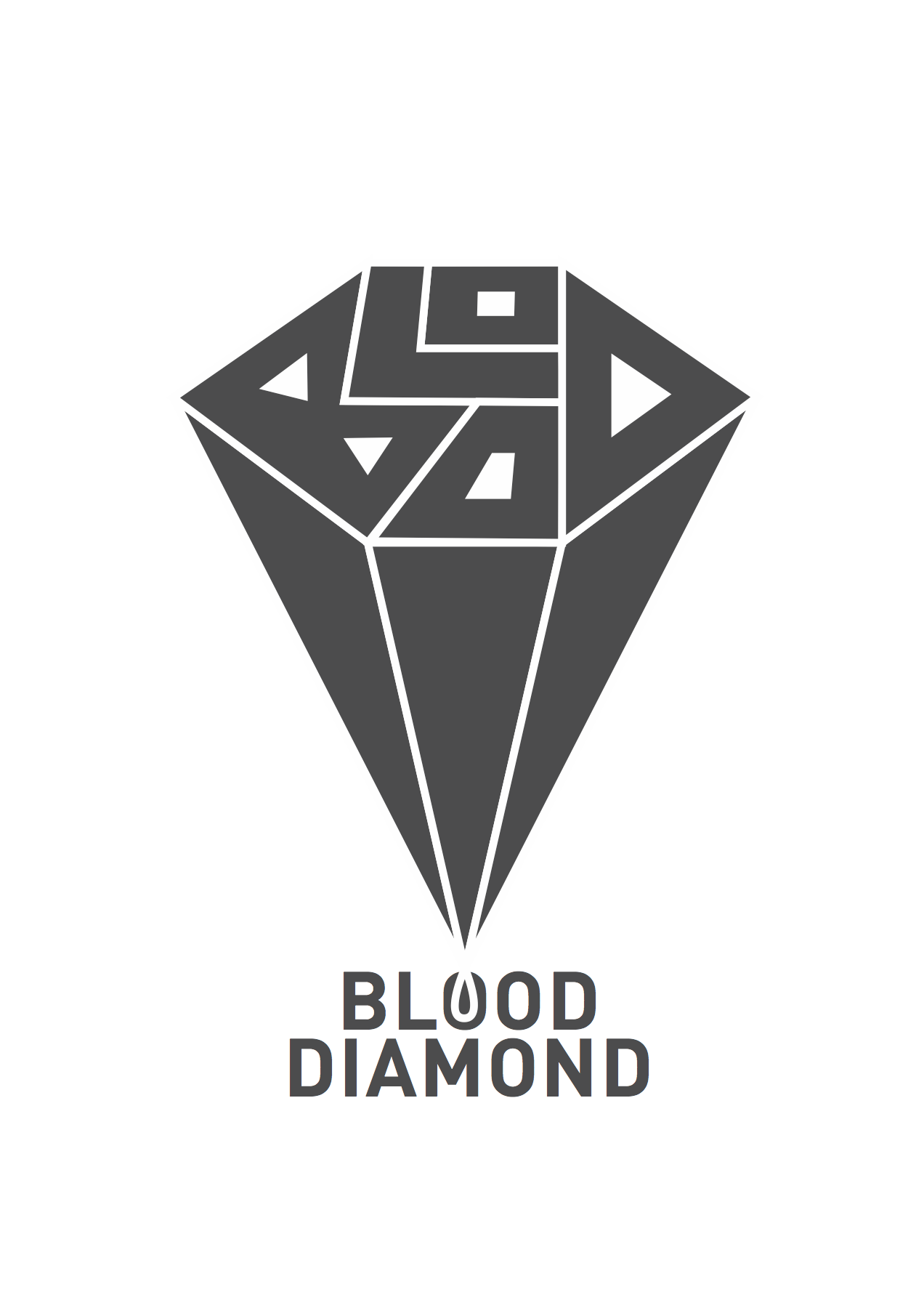 m graphicdesign logotype typography art design brand blood diamond graphic design
