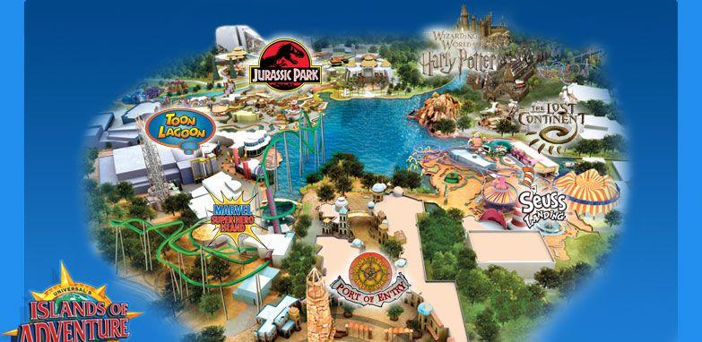 Universal Studios Orlando Your Orlando Vacation Destination Universal Islands Of Adventure Map Of Florida Islands Of Adventure