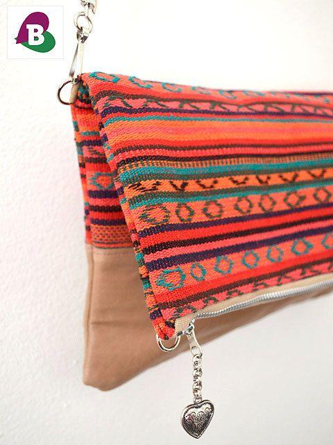Caracus Foldover Clutch & Cross Body Bag handmade  by becauseilikeitAU #EtsyShop #BecauseilikeitAU