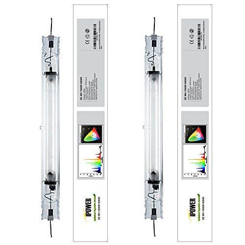 Ipower 2 Pack 1000 Watt Double Ended Metal Halide Mh Grow Light Bulb Lamp Bulb With Full Spectrum 6000k Par Grow Lights Best Led Grow Lights Light Bulb Lamp
