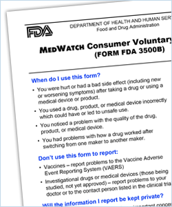 Help The Fda By Reporting Serious Problems With Drugs Medical