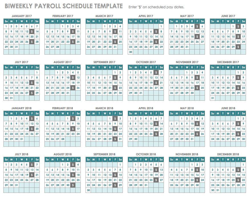 Biweekly Payroll Schedule Template  Miscellaneous