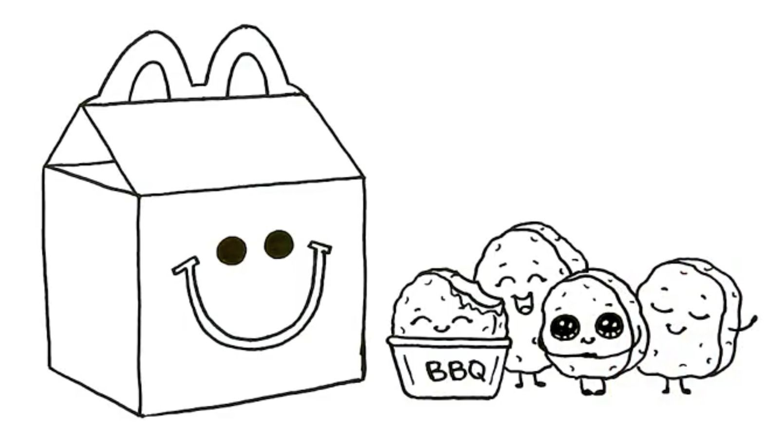 Draw So Cute Mc Donald S Happy Meal Happy Meal Mcdonalds Cute Food Happy Meal