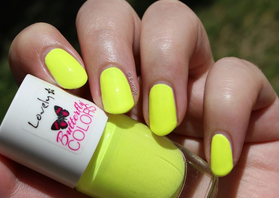Lovely Butterfly Colors neon nail polish (neon yellow - Nr. 2 ...