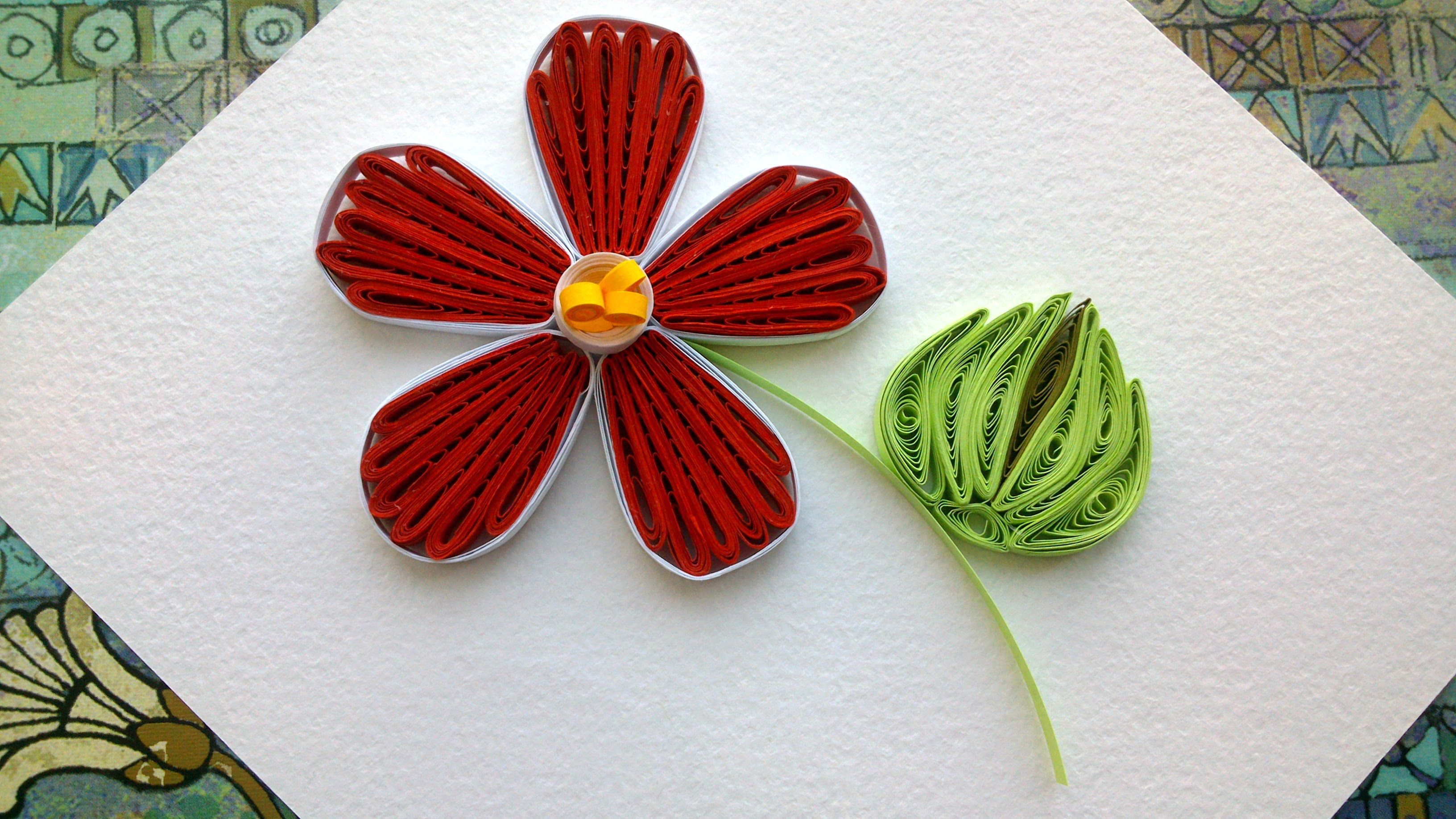 How To Make Paper Quilling Flowers Video Download My Favourite
