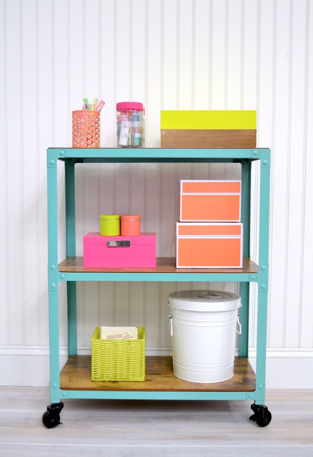 Cool craft storage on a cart organizing studio and craft for Michaels craft storage cart