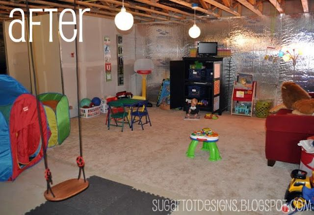 Sugartotdesigns Playroom Makeover Unfinished Basement Playroom Unfinished Basement Basement Makeover