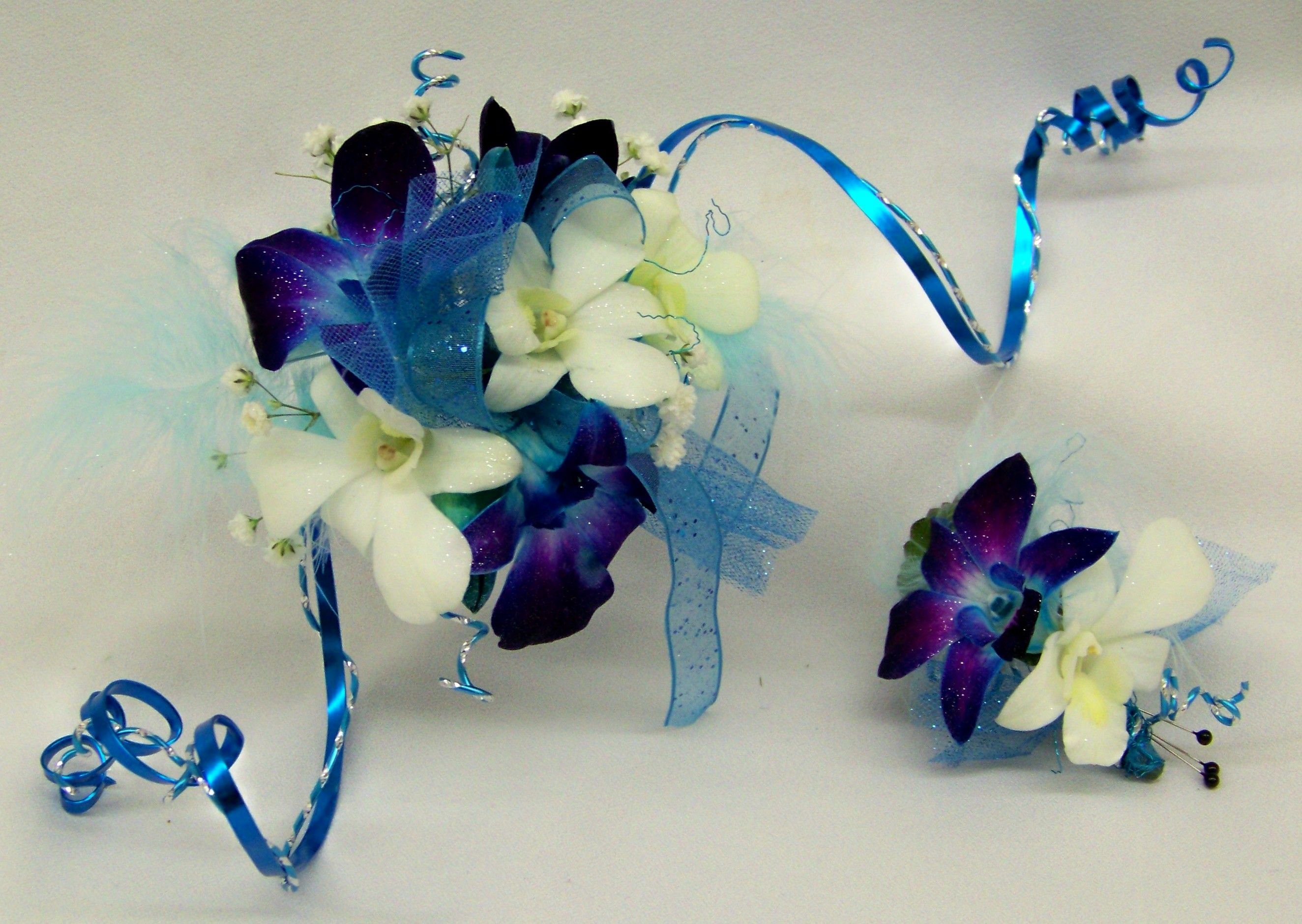 Arm Corsage Boutineer of Dendrobium Orchids