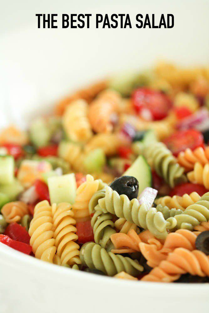The Best Homemade Pasta Salad   - Salads -