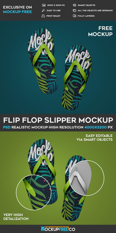 Flip Flop Slipper Free Psd Mockup Download Mockup Free Psd Mockup Psd Mockup