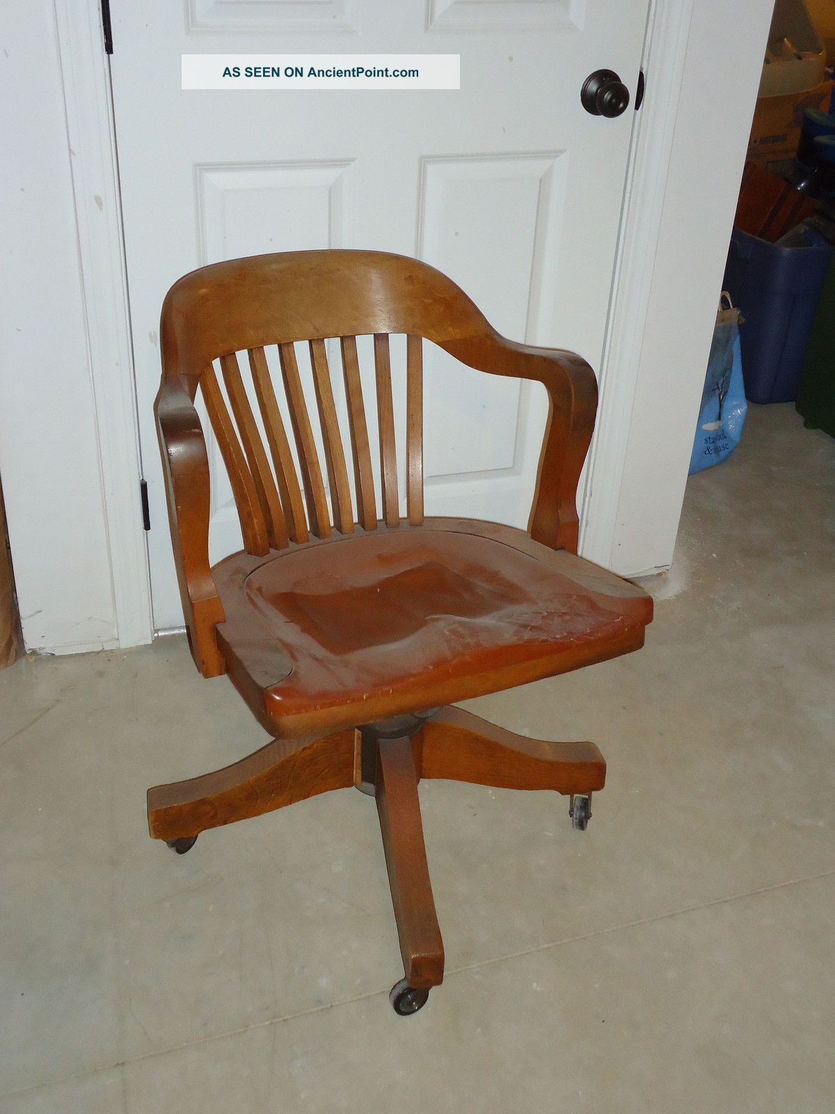 Vintage Johnson Chair Co Chicago Usa Early 20th Century Court