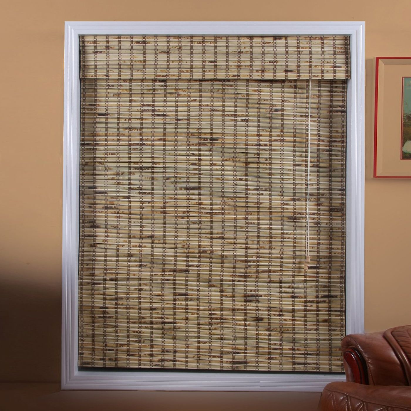 Arlo Blinds 04tbb300540 Tropical Rustic Bamboo Roman Shade