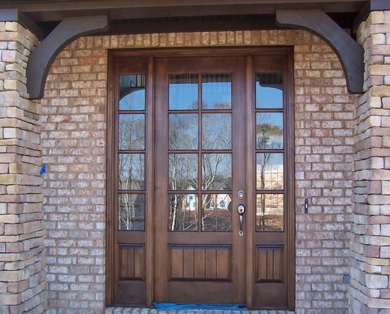 Craftsman Exterior TDL Mahogany Wood Front Entry Door Style DbyD 4035