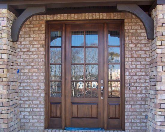 Craftsman Exterior Tdl Mahogany Wood Front Entry Door Style Dbyd 4035 Renovations Pinterest