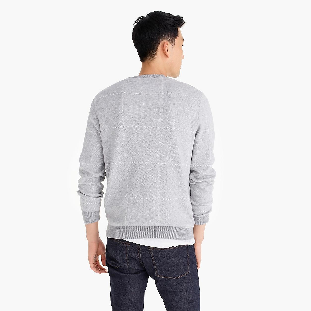 6f2031c87e2a Cotton-Cashmere Crewneck Sweater In Windowpane Jacquard