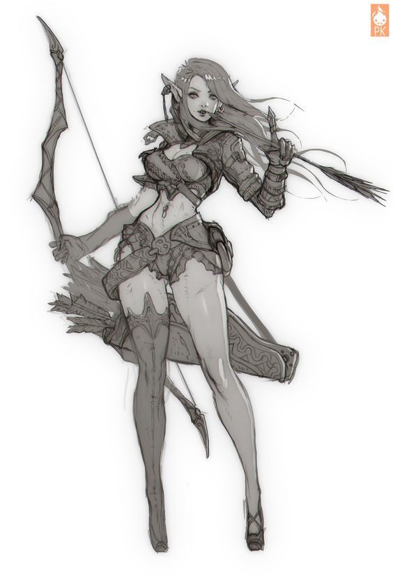 Archer Lady by Zeronis - Paul Kwon - CGHUB: