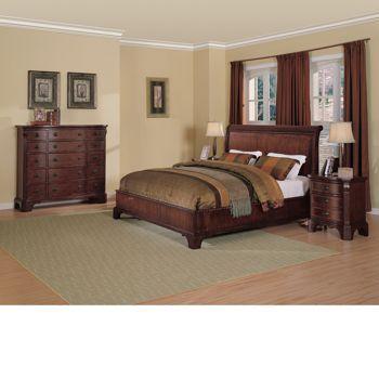 Wilshire 4 Pc Queen Bedroom Set, Bed, Gentlemanu0027s Chest And 2 Nightstands,  Original $2799.99, Sale $1,999.99, Valid 10/11/12 Through 11/11/12.